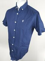 Mens Father Sons Short Sleeve Shirt Blue Medium 40 To 42 Chest