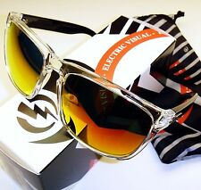 Electric Knoxville XL Sunglasses-Black Crystal w. Melanin Grey-Fire Chrome Lens