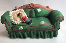Priscilla Hillman Nutcracker Accessory Green Couch Trinket Box Enesco 1997