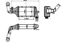 NRF Radiador de aire admisión OPEL ASTRA ZAFIRA VAUXHALL 30428