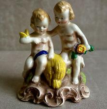 Ant Early Goebel German Porcelain Cherub Wheat Miniature Figurine GM 597