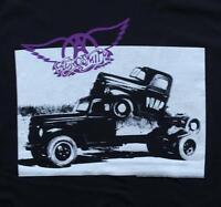 Aerosmith Band Truck Pump Classic Rock Band Licensed Concert Tour Adult T-Shirt