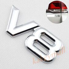 3D Chrome Metal V8 Logo Emblem Badge Auto Fender Trim Sticker Decal Accessories