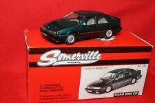 Saab 9000 CS green + Somerville Models 1992 1:43 + mint boxed + CSE
