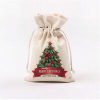 1Pc Christmas Candy Gift Bag Snowman Santa Claus Elk Tree Style Xmas Decoration