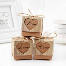 50pcs Kraft Paper Candy Chocolate Cake Gift Boxes Wedding Birthday Party Favour