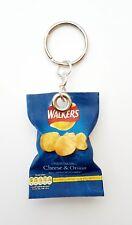 Handmade Novelty Packet Of Cheese & Onion Crisps Keyring/Bag Charm