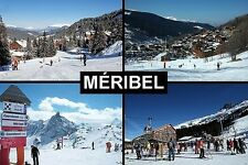 SOUVENIR FRIDGE MAGNET of MERIBEL FRANCE SKIING