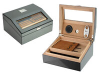Quality 50+ CT Count Cigar Humidor Humidifier Wooden Case Box Hygrometer 1sx