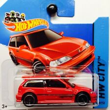 NEW Hot Wheels 1990 Honda Civic EF 2014 No 30 Red Genuine Sealed Short Card JDM