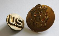 INSIGNE US, 2 insignes U S, badges, armée américaine, aigle, eagle, WW2, US