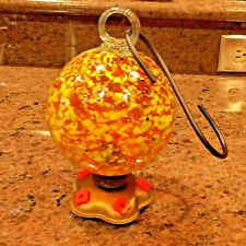 "Bambeco Round Carnival Hummingbird Feeder ~ Handmade from Recycled Glass ""NEW"""