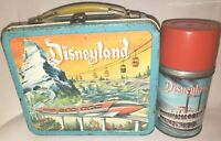 VINTAGE DISNEYLAND MONORAIL AND 10000 Leagues LUNCHBOX & THERMOS 60 YEARS OLD