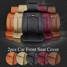 New Luxury Breathable 3D Surround PU Leather Car Seat Cover Cushions Front Seats