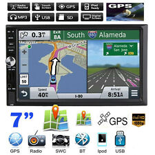 7'' Double 2DIN In Dash GPS Navi Car MP5 TV Player Bluetooth Auto Stereo Radio