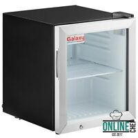 Black Countertop Display Refrigerated Merchandiser Swing Glass Door 1.8 Cu. Ft .