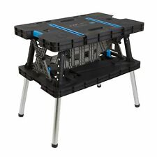 Folding Work Bench Portable Master Table Pro Adjustable Clamps Sturdy DIY Garage
