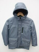 Fantastic NEXT Boy's Blue Chambray Hooded Parka Coat with Quilted Lining 8 years