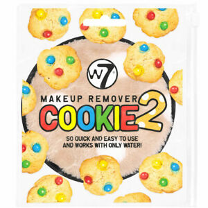 Makeup Remover Cookie 2 - W7 Soft Sponge Only Water Sensitive Skin Cleanser Skin