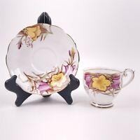 Bell China England Fine Bone Tea Cup & Saucer Floral Vintage