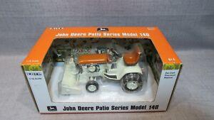 1/16 Ertl John Deere Patio Series Model 140 Orange Garden Tractor W  Snow Blower