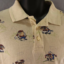 Taz Golf Polo Shirt Classic Looney Tunes S Tasmanian Devil Warner Bros Studio