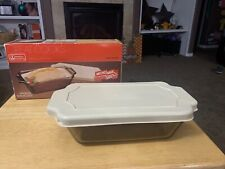 Anchor Hocking Ovenware 1.5 Quart Amber Loaf Dish Pan 1041 W/Lid 1 1/2 Q In Box