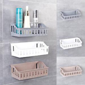 Basket Shampoo Storage Basket Bathroom Holder Shelf Shower Caddy Suction Holder