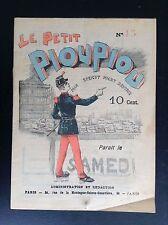 RARISSIME Le petit PiouPiou Journal patriotique humoristique Jules Ferry 1888