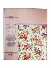 More details for victoriana 'sweet posy' greeting card keepsake folder with elastic closure
