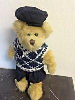 "TY Beanie Baby Attic Treasures 1983 Vintage Mulligan Blue Teddy Bear 8"" RETIRED"
