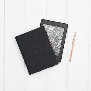 Dark Grey Canvas Red Poppy Cover Case Kindle Voyage Touch Paperwhite Signature