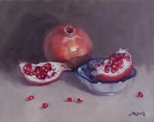 """""""Pomegranates 2"""" original fine art still life oil painting by Xiaomei Griffiths"""