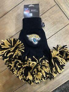 Jacksonville Jaguars Cheerleader NFL Spirit Fingerz Pom Pom Gloves Women & Girls