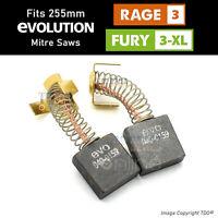 Carbon Brushes for Evolution RAGE 3 & FURY 3 XL 255mm Sliding Mitre Saw 040-0159