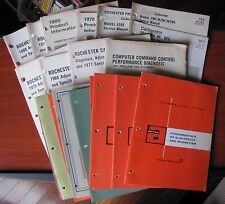 24 books) Delco Remy training chart manuals+ Rochester product info 1960s-80s