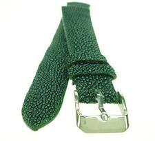 20mm Green Stingray Skin Leather Watch Strap Band Handmade  WB2022