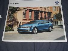 2016 VW Volkswagen Jetta USA Market Brochure Catalog Prospekt