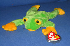 TY SMOOCHY the FROG BEANIE BABY - MINT with MINT TAGS