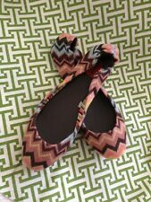 NWOB Girls Missoni For Target ZigZag Chevron Flats Shoes Size 4