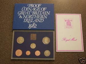 1982 UK DECIMAL ROYAL MINT PROOF SET 7 COIN COLLECTION