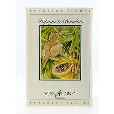 PAPAYA & BAMBOO *Very Popular* Scentations SACHET Home Fragrance