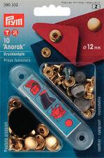10 Druckknöpfe Anorak 12 mm goldf.  390332  Prym Knöpfe nähen schneidern Garten
