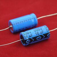 2pcs Axial Electrolytic Capacitor 16uf 500V for Guitar Tube Amp DIY