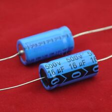 2pcs Axial Electrolytic Capacitor 16uf 500V for Guitar Tube Amp DIY