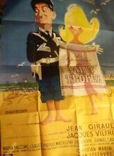 AFFICHE ancienne cinema LE GENDARME DE SAINT TROPEZ - LOUIS DE FUNES - 120 X 160