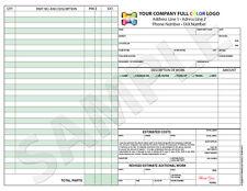 250 3-Part Color Custom Invoice / Receipt / Estimate / Quote / Mechanical Repair