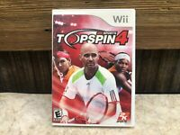 2K Sports Top Spin 4 (Nintendo Wii, 2011) COMPLETE TESTED FREE SHIPPING & RETURN