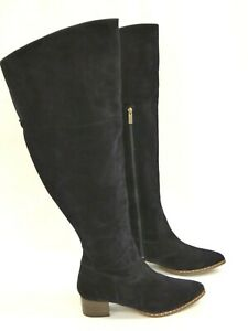 Ted & Muffy Boots Blue Suede Women's Knee High Duo Boots EU 42 Brand New No Box
