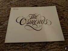 Osmond Concert Program Donny Brothers 1977 Ron Clark Osmonds Produced By Virl
